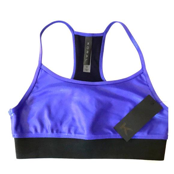db91f6c6c129e Koral Active Wear Yoga Sports Bra - Med - Sapphire